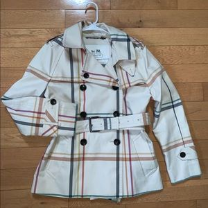 Rare Coach Tatersall Plaid Short Trench Coat